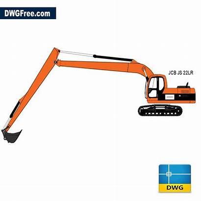 Excavator Jcb Dwg Drawing Dwgfree Cad 2d