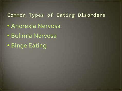 Common Eating Disorders Presentation