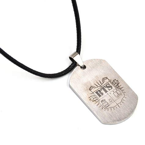 KPOP BTS Bangtan Boys Titanium Steel Tag Pendant Necklace