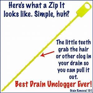 Simple Chemical Free Drain Unclogger Zip It Drain