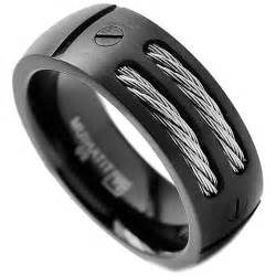 mens wedding bands black diamonds black mens wedding bands zales e4jewelry
