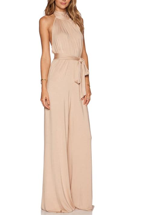 pally jumpsuit pally beige jumpsuit from jersey by shop pray
