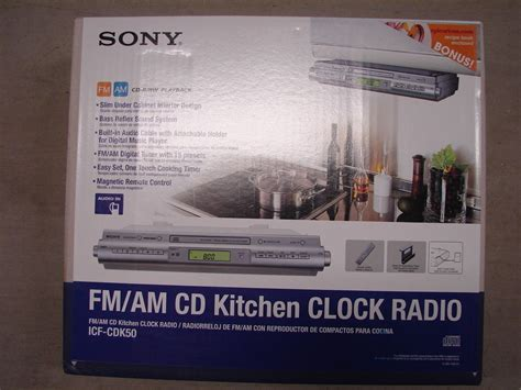 sony under cabinet kitchen cd clock radio sony icfcdk50 under cabinet kitchen cd player clock radio