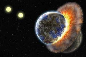 Two planets suffer violent collision -- ScienceDaily