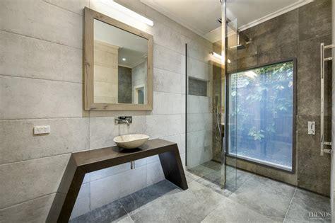 modern bathroom  switch glass minimalist vanity