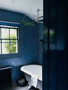 40 dark blue bathroom tile ideas and pictures for Bathroom tiles blue