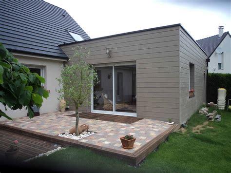 agrandissement cuisine sur terrasse agrandir sa maison en bois beautiful extension de maison