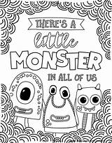 Coloring Monster Monsters Silly Printables Scary Hopefully Spooky Silliness Nothing Smile Bring Pdf sketch template