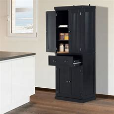 Homcom 72inch Wood Kitchen Pantry Cabinet Tall Storage