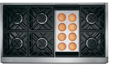 zgpndrss ge monogram  natural gas professional range   burners griddle stainless