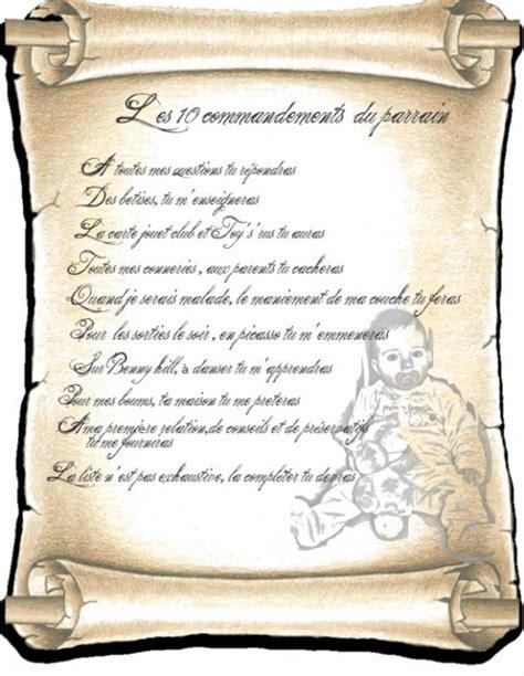 les 10 commandements d etre parrain bienvenue sur le de choupinette 4040