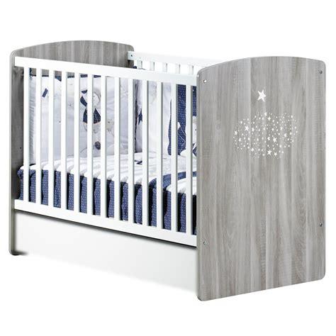 chambre bebe en pin hugo lit bébé 60x120cm gris de sauthon baby 39 s home