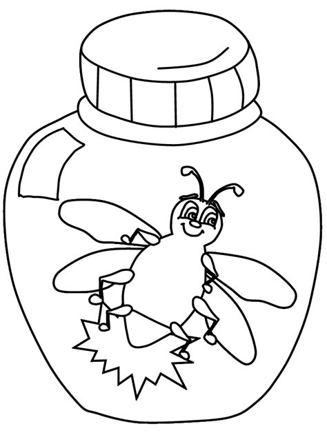 firefly coloring page coloring home