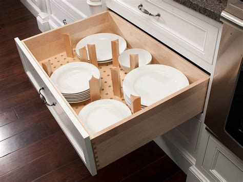 kitchen cabinet plate organizers kitchen cabinet accessories pictures ideas from hgtv hgtv