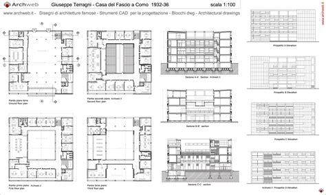 terragni casa fascio giuseppe terragni casa fascio drawings