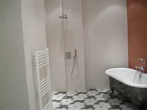carrelage noir et blanc salle de bain 3 b233ton cir233 With carrelage noir et blanc salle de bain