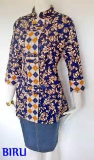 baju batik kantor wanita zommi
