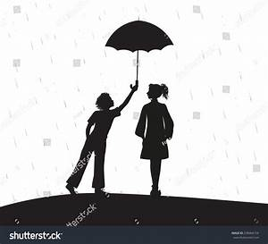 Boy Gives Umbrella, Shadows, Date Under The Rain, First ...