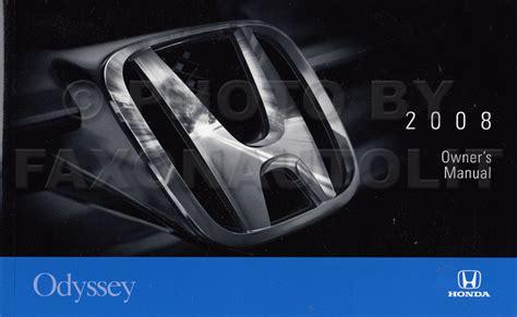 vehicle repair manual 2008 honda odyssey on board diagnostic system 2008 honda odyssey van owner s manual original