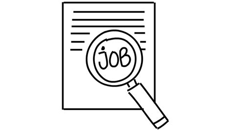 job search magnifying glass  drawing illustration