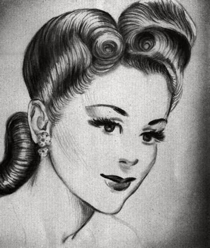 Vintage 1940s Hairstyles by 1940s Hairstyles For Hair For Hair How To