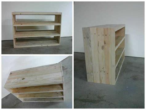etagere en bois de palette pallet shoes shelf  pallets