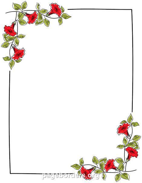 printable floral border   border  microsoft word