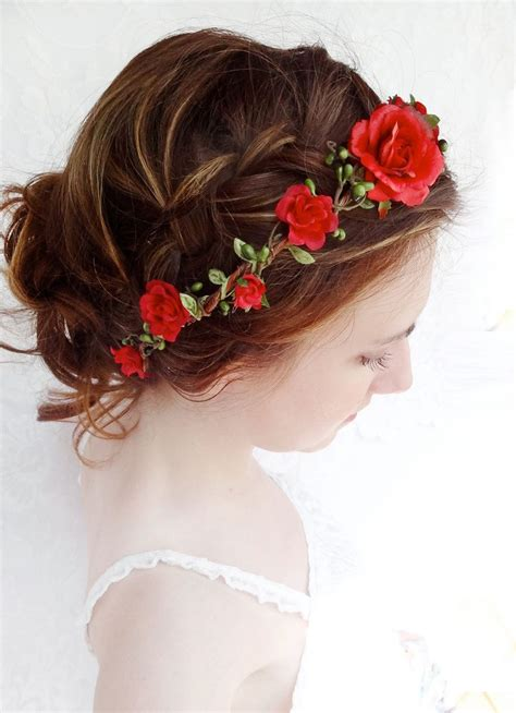 diy bridal hair band flower hair circlet flower headband bridal hair accessories joielle