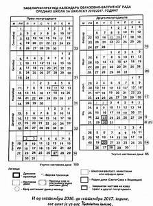 kalendar20162017 Privatna srednja medicinska Školest