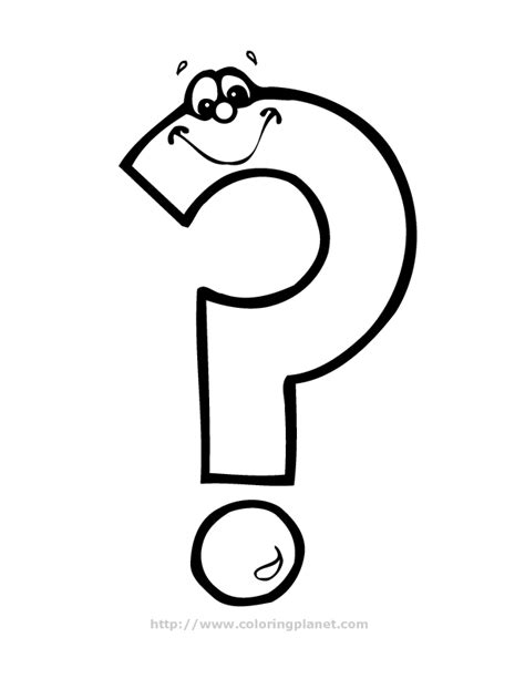 question mark colouring pages  image