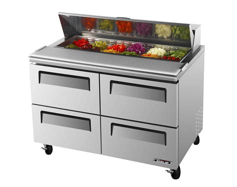 Turbo Air Tst-48sd-d4-n 12cf Sandwich Prep Salad Cooler Four Drawers 12 Pans Mesh Closet Drawers Like It Modular Manual Cash Drawer Under Counter Slide Glides Acrylic Makeup Organizer With French Country Pulls Table Unscented Liners