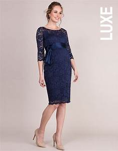 navy blue lace maternity cocktail dress seraphine With robe ceremonie grossesse