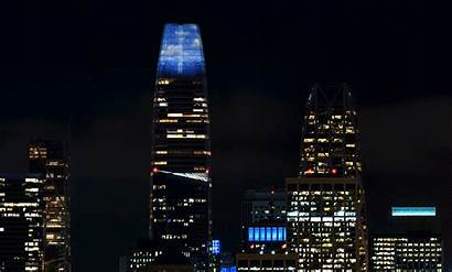 Tower Salesforce Lights San Francisco Campbell Jim