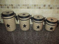 Primitive Easter Decor Canister Set by Ceramic Canister Set Country Decor And Black On