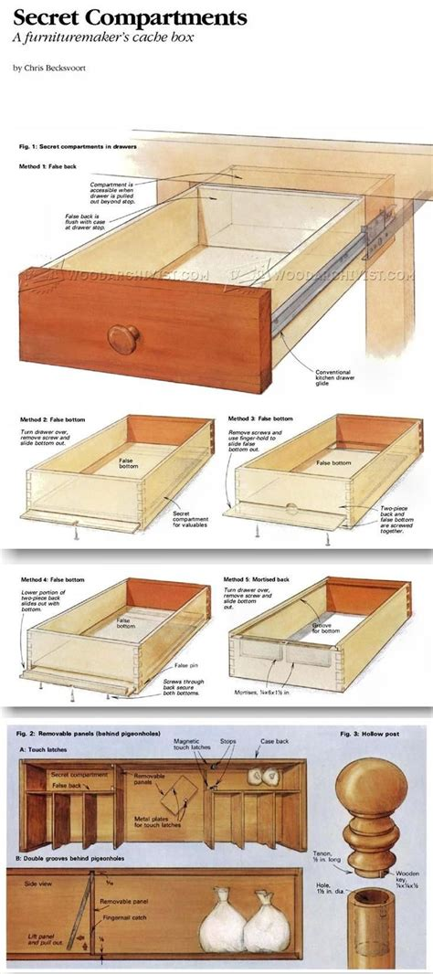 furniture secret compartments furniture plans