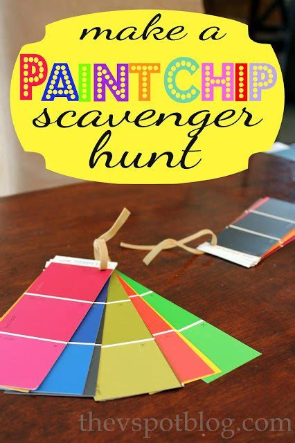 paint chip scavenger hunt   spot