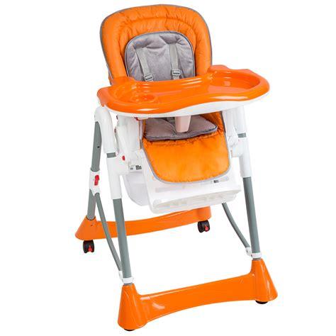 chaise haute plaible pour b 233 b 233 enfant confort orange ebay