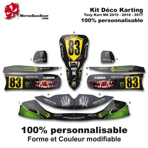 kit d 233 co m6 tony kart karting energy motorskin 100 perso