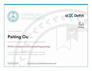 Intro to FP Edx Certificate