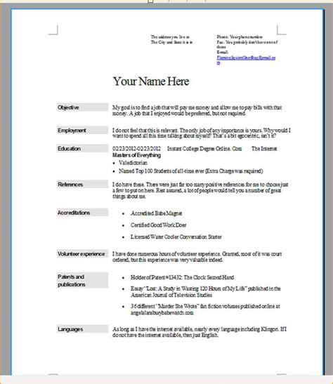 How To Do A Resume For A by What Does A Resume Look Like For A Annecarolynbird