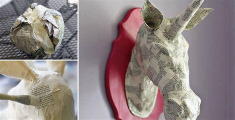 paper mache animal head diy crafts