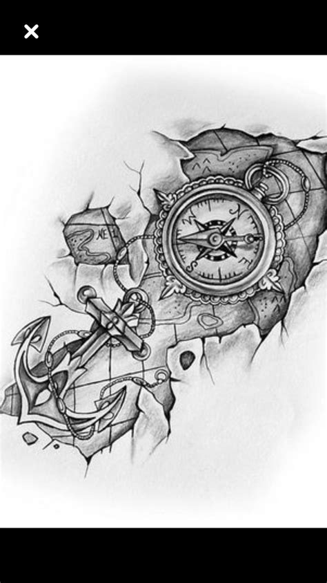 Pin de Berta Denise Redensek em Tamara board | Tattoo designs, Compass tattoo e Drawings