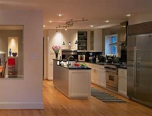 Petit Ilot Cuisine : cuisine ouverte salon avec ilot central cuisine en image ~ Premium-room.com Idées de Décoration
