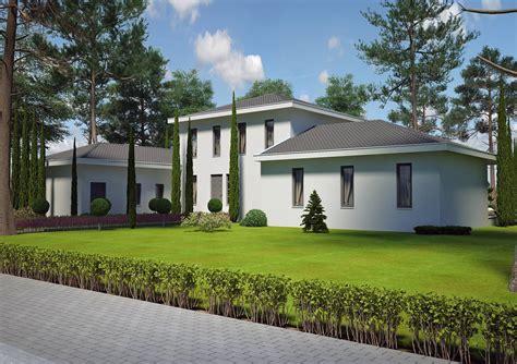 plan plain pied 2 chambres villa contemporaine 150 m2 etage modèle pinede salon