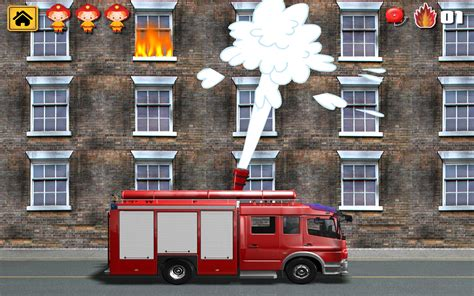 kids vehicles  interactive fire truck animated