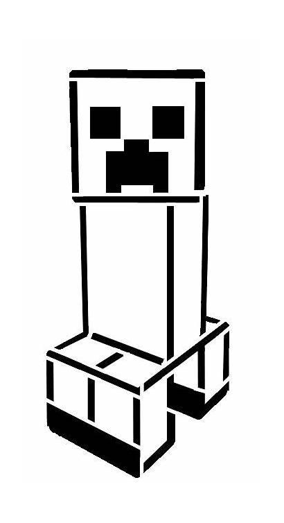 Minecraft Creeper Stencil Drawing Silhouette Stencils Coloring