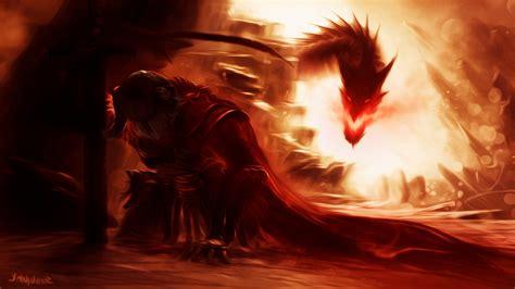 artwork fantasy art  elder scrolls  skyrim dragon
