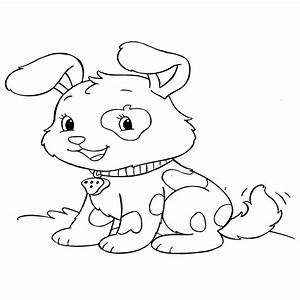 Pug Puppy Coloring Pages - Cute Baby Puppies Coloring Pages