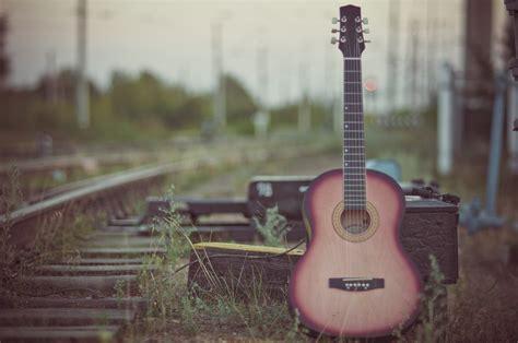 guitar nature railway street blur wallpaper