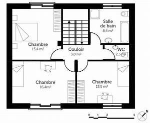 plan maison simple ooreka With plan de maison simple
